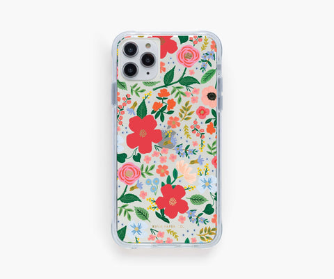 Rifle Paper Co. Phone Case Compatible with iPhone 11 Pro Max/XS Max – Clear Wild Rose