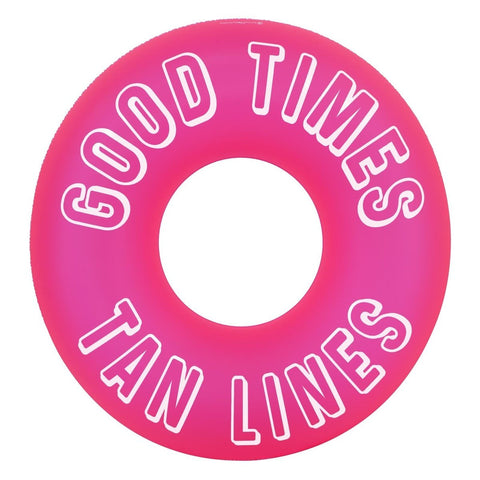 Sunnylife Pink Inflatable Pool Float Inner Tube Floating Ring - Good Times