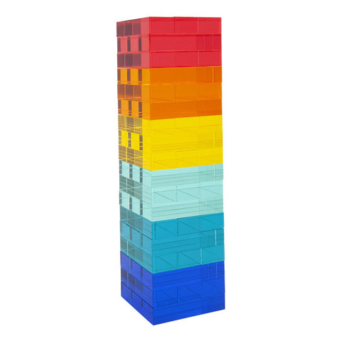 Sunnylife Rainbow Lucite Jumbling Tower