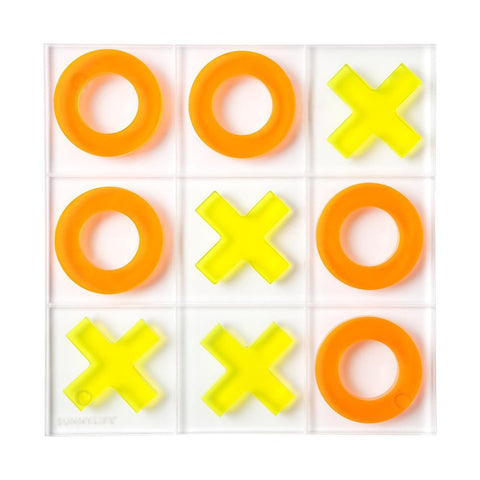 Sunnylife Lucite Neon Orange Tic Tac Toe