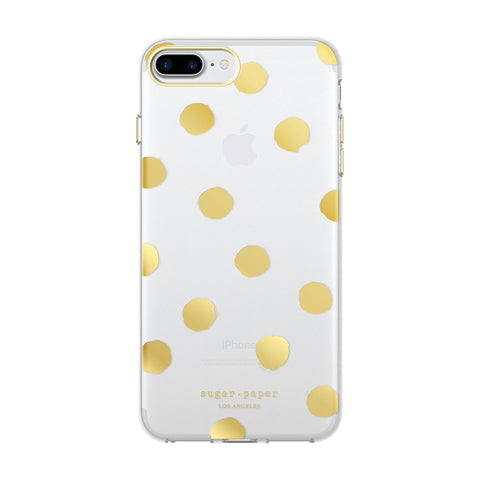Sugar Paper Cell Phone Case for iPhone 7 Plus- Large Dot/Clear