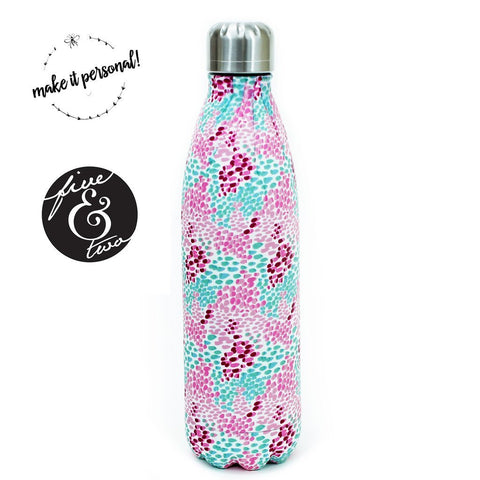 Mary Square Stainless Steel Water Bottle- Lilly