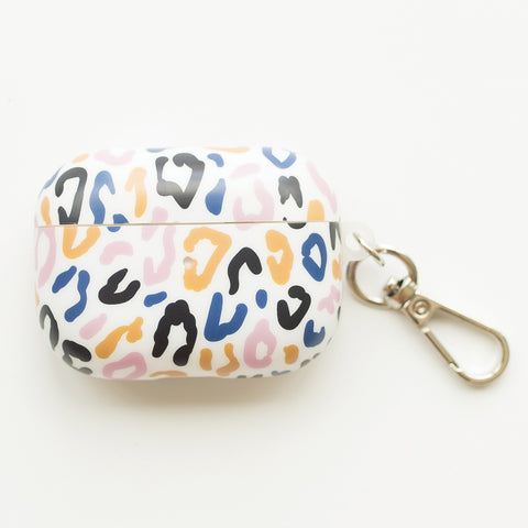 Mary Square Case for AirPods Pro with Keychain - Leopard Print