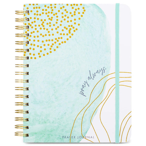 Mary Square Sea Blue Prayer Journal - Pray Always