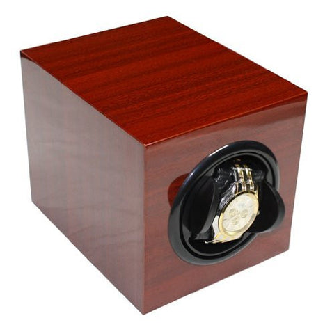 Single Cherry Lacquer Wood Automatic Watch Winder
