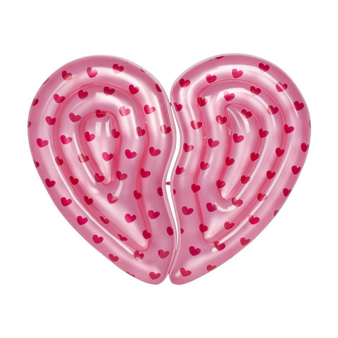 SunnyLIFE Luxe Twin Lie-On Float Heart BFF