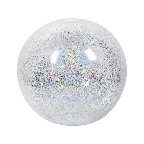 SunnyLIFE XL Inflatable Ball- Silver Glitter