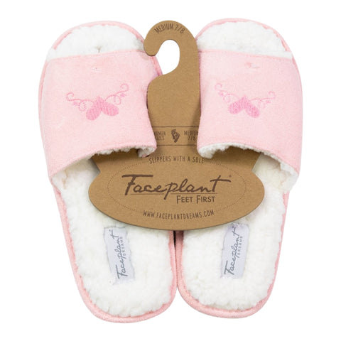 Faceplant Dreams Vegan Suede Fluffy Slides - Love