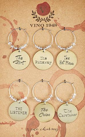 Santa Barbara Design Studio Personalities Wine Glass Stem Charms