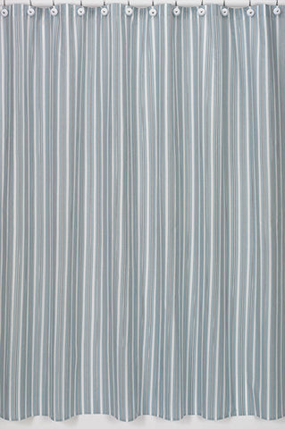Jojo Designs Shower Curtain- Blue & Brown Stripes