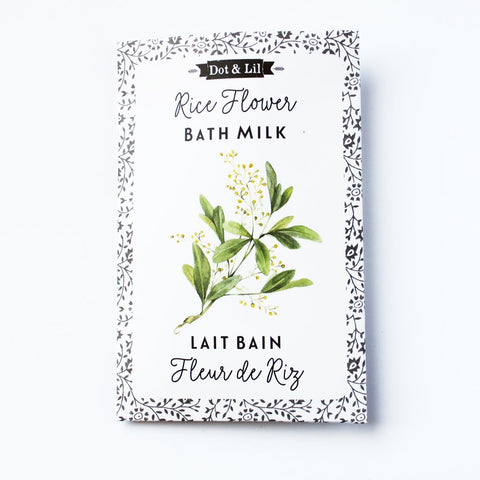 Dot & Lil Set of 2 Rice Flower Bath Milk Sachets Lait Bain Fleurs