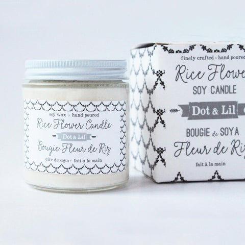 Dot & Lil Candle Rice Flower Hand Poured with Soy Wax