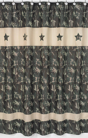 Jojo Designs Shower Curtain- Camo Green