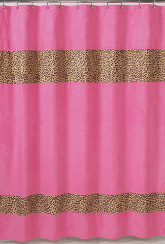 Jojo Designs Shower Curtain- Cheetah Pink
