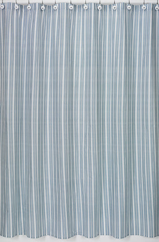 Jojo Designs Shower Curtain- Blue & White Stripes