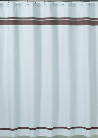 Jojo Designs Shower Curtain- Hotel Collection Blue & Brown
