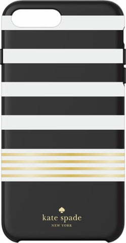 Kate Spade New York iPhone 7 Plus Phone Case Black White Stripe