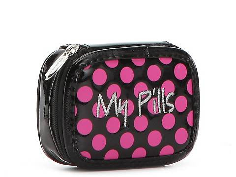Miamica Black Pink Polka Dots Pill Case- My Pills