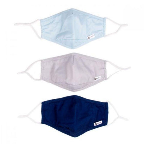 Miamica Set of 3 Fashion Cloth Face Mask - Navy, Grey, Light Blue