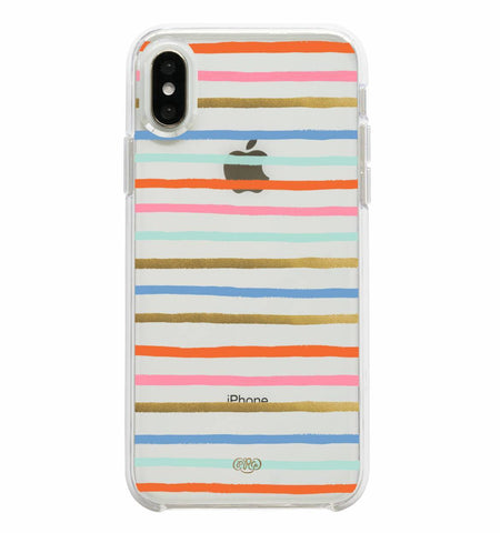 Rifle Paper Co. Protective Case for iPhone Xs Max - Clear Happy Stripes
