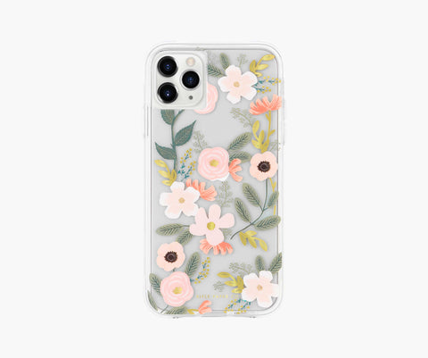 Rifle Paper Co. Compatible with iPhone 11 Pro from Apple – Clear Wildflowers