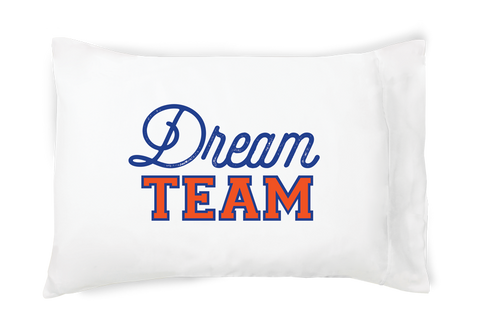 Dream Team Pillow Case - Blue and Orange