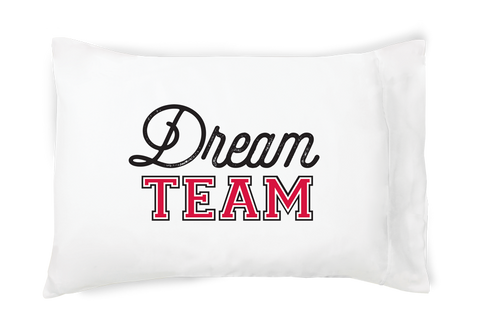 Dream Team Pillow Case - Red and Black