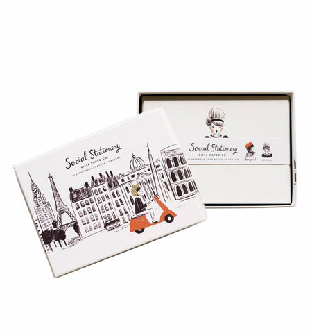 Rifle Paper Co. Social Stationery Set Global Greetings