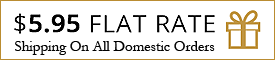 Flat rate domestic shipping $5.95