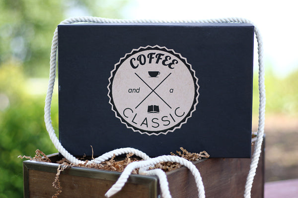 coffee and a classic book box subscription service