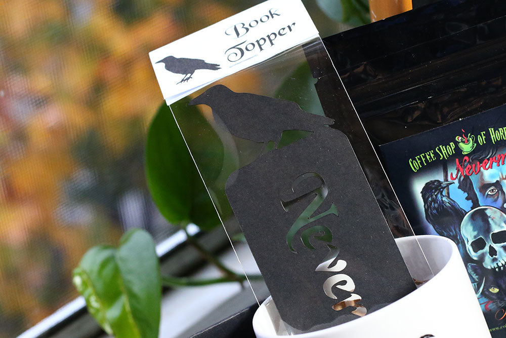 Nevermore Bookmark by SazelGifts in Poe Themed Coffee and a Classic Book Box Subscription