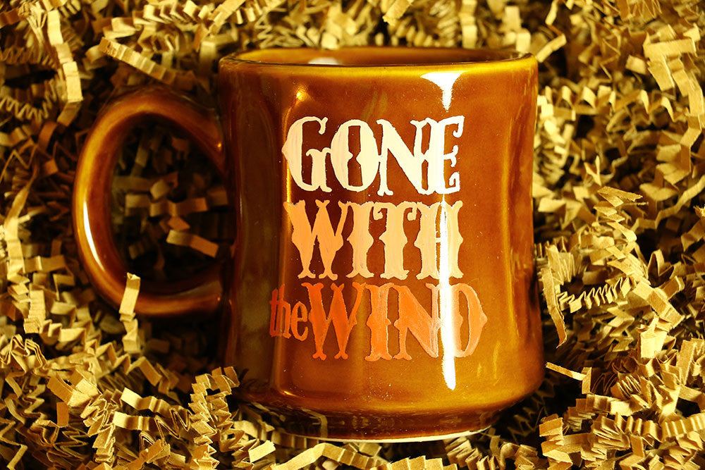 Gone With the Wind hand-painted mug by Coffee and a Classic