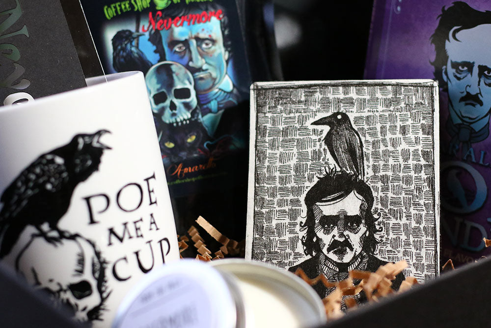 CaptainsArt Poe Illustration in Coffee and a Classic Book Box Subscription