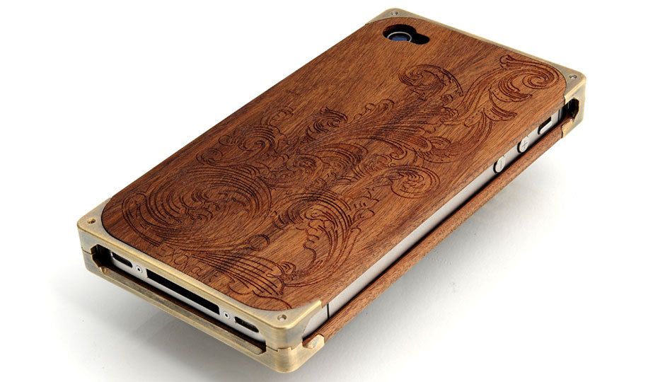 Wind and waves custom engraving on EXOvault iPhone case