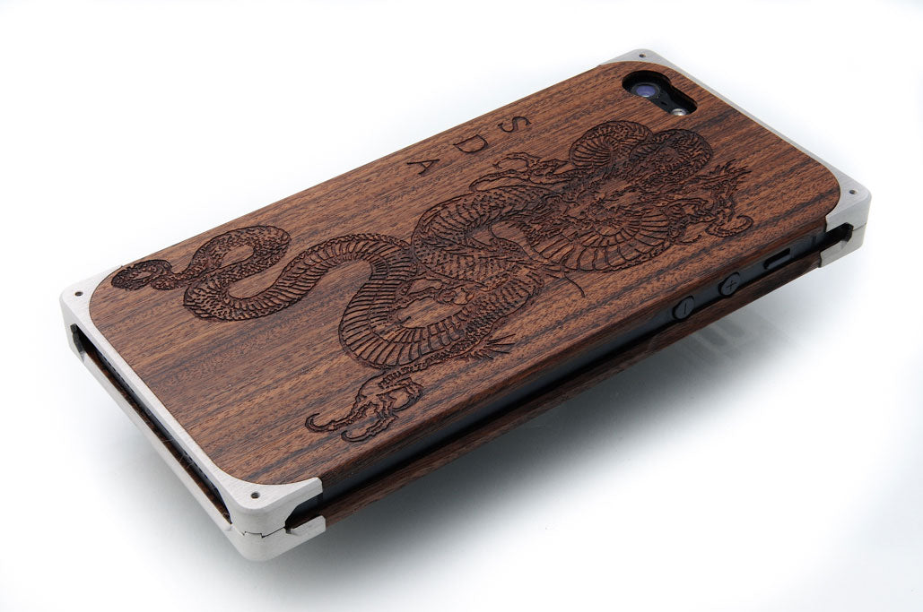 Sample engraving of EXOvault iPhone case