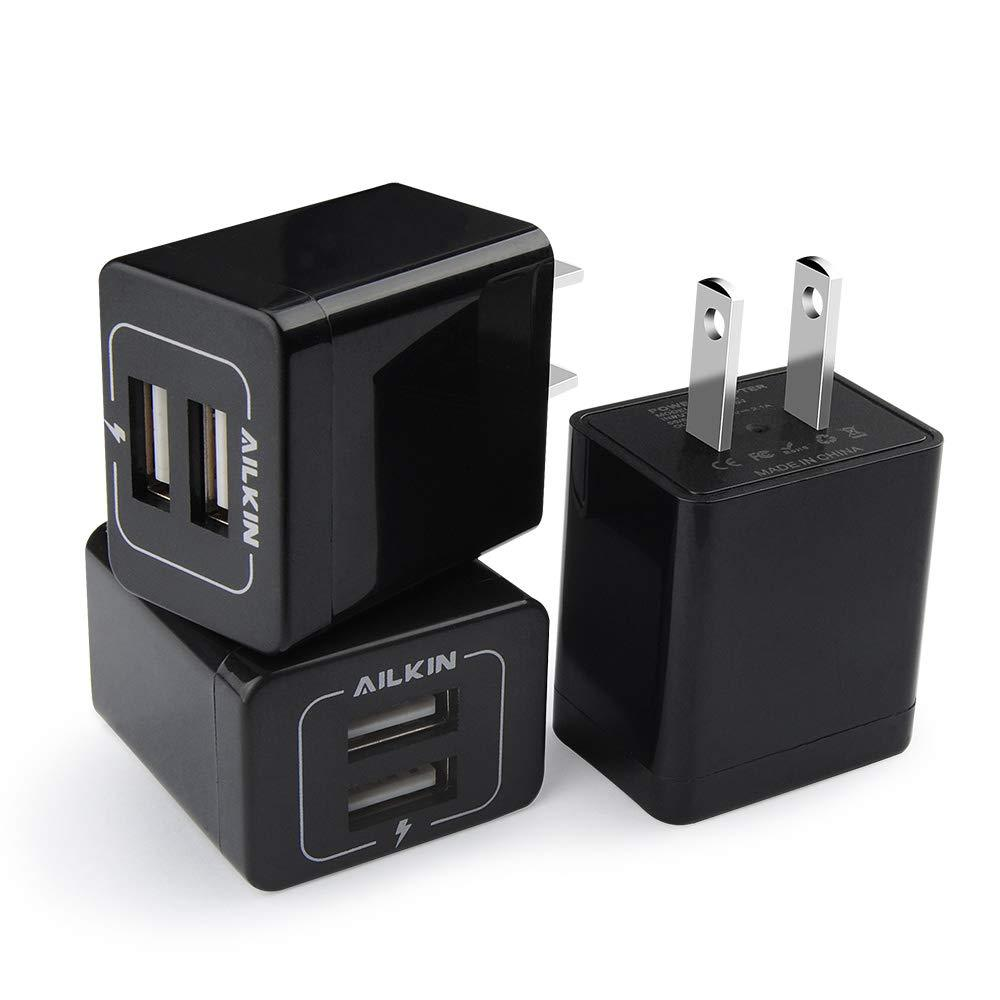 2.1 Amp Dual USB Power Adapter Compatible with EXOvault Wireless Charging Stands