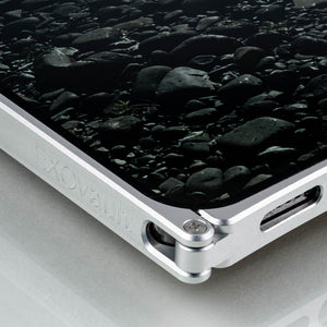 Europa, iPhone 12 Pro Case, Silver Aluminum and White G10