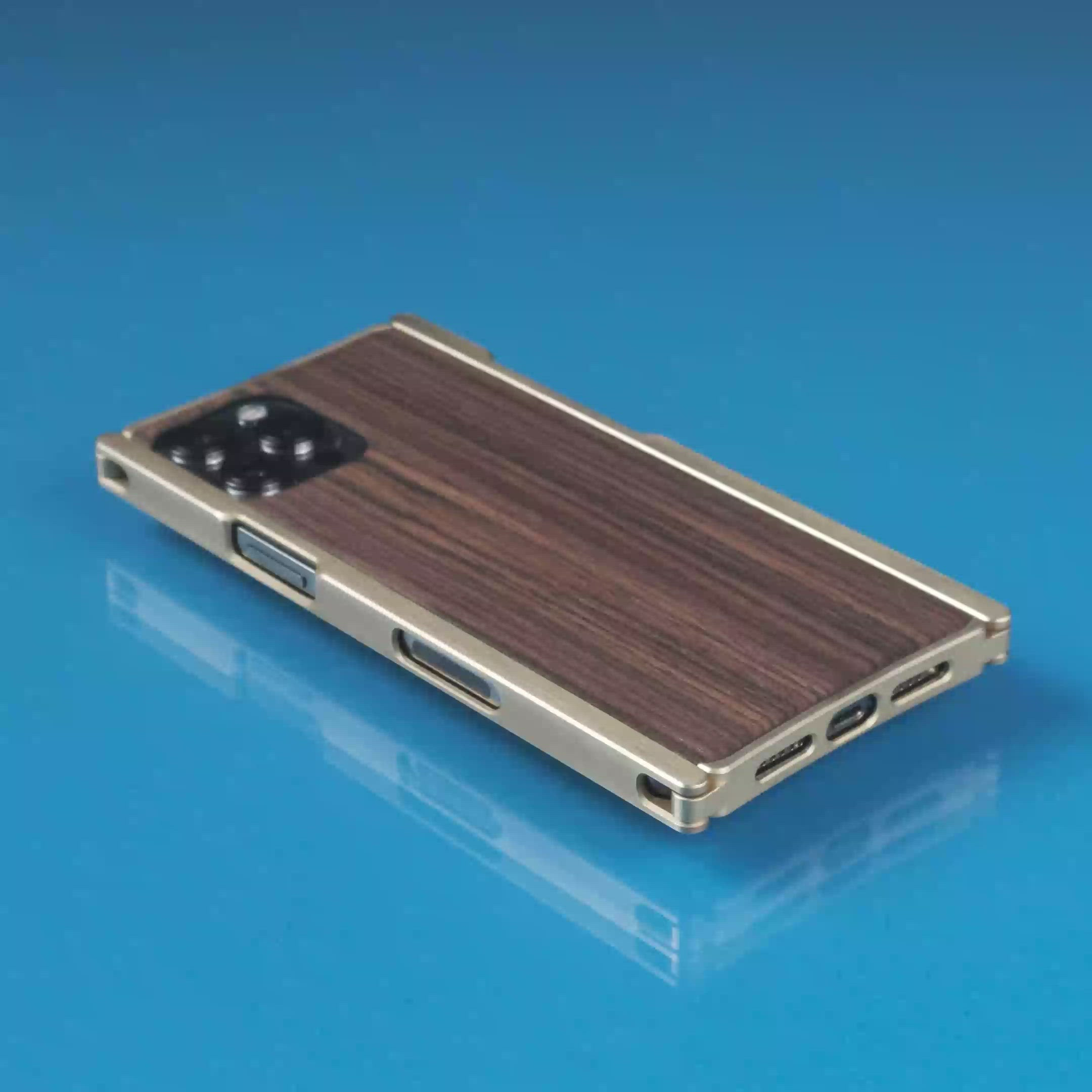 Europa, iPhone 12 Case, Brass and Rosewood