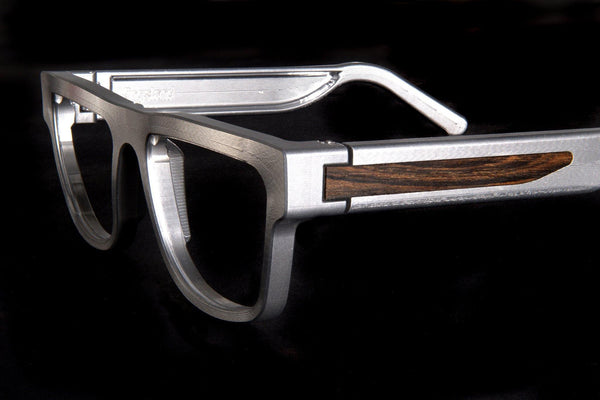 Kingsland Frame Raw Aluminum with Hardwood Inlay