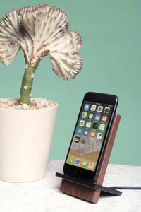 Black Walnut Wireless Charging Stand for Kickstarter backers