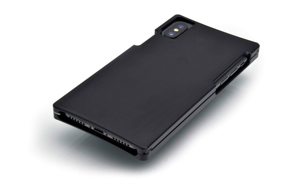Black Aluminum case with Matte-Black G10 for iPhone XS MAX