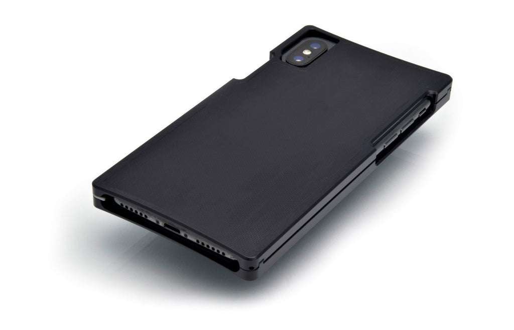 Black Aluminum case with Matte-Black G10 for the iPhone XS