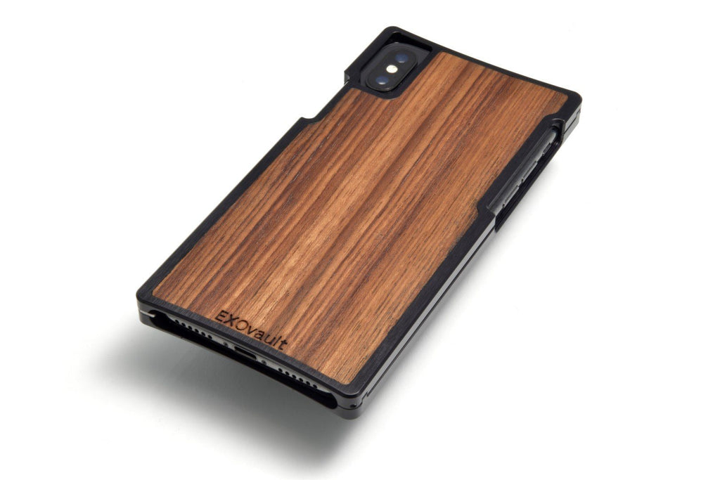 EXO-X Black Aluminum and Teak for the iPhone X