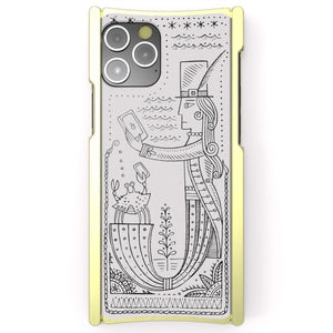 iPhone 12 Case, Duke Riley, Mermaid, Artist Edition Europa 12 Pro Brass and White G10