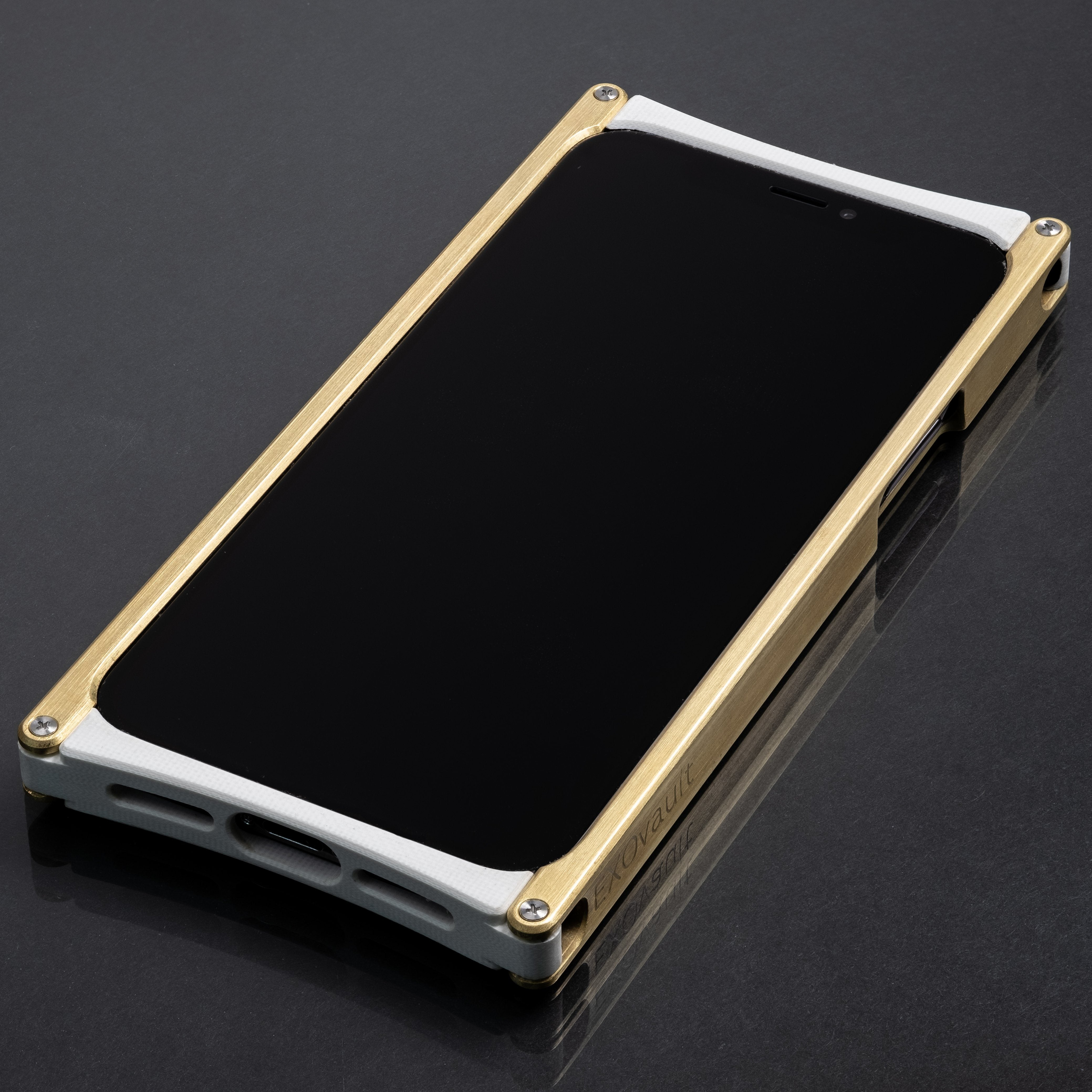 iPhone 11 Pro Case, Europa case in Brass and White G10