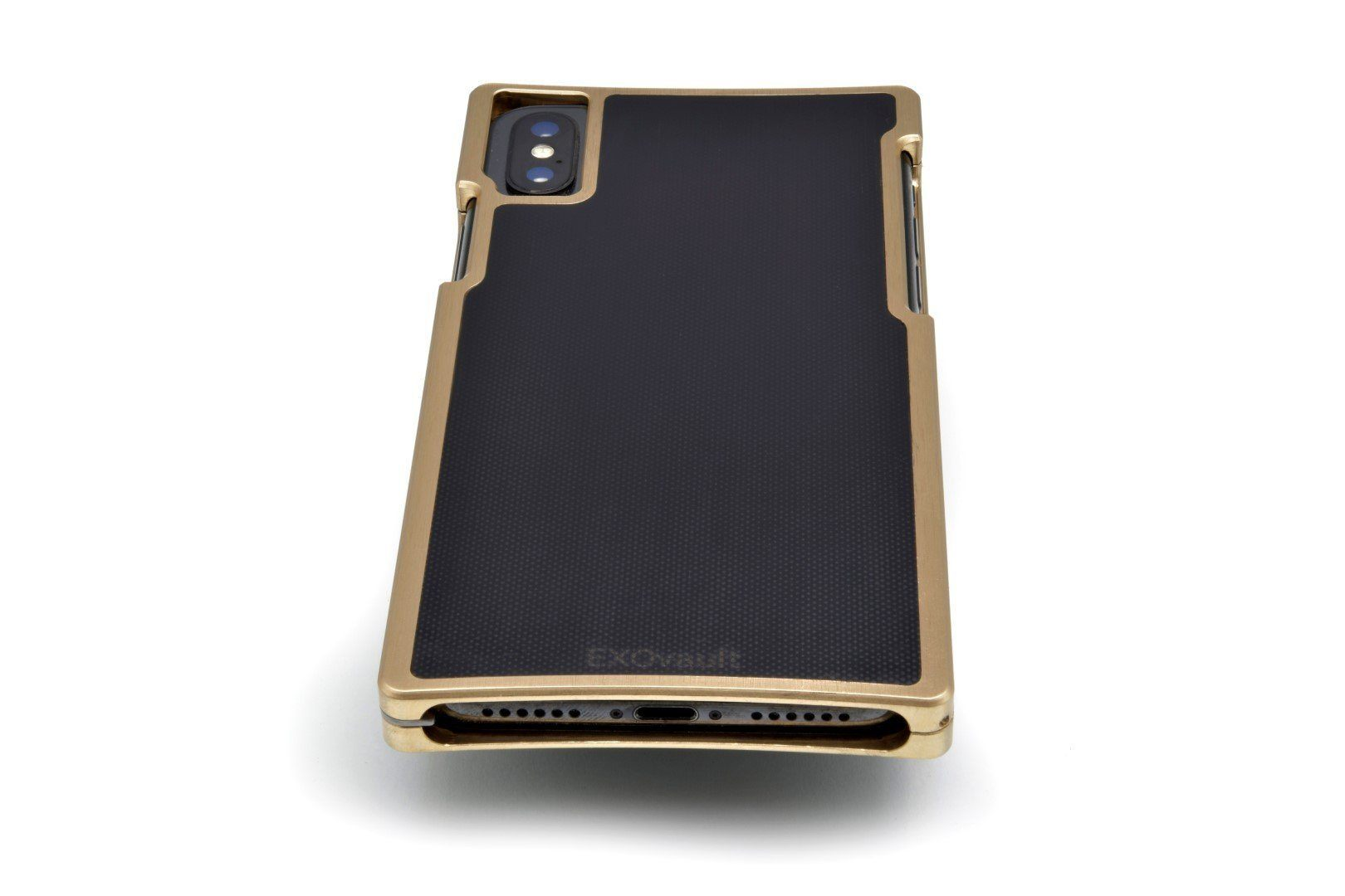 Brass Case with Matte-Black G10 Inlay for iPhone XS Max