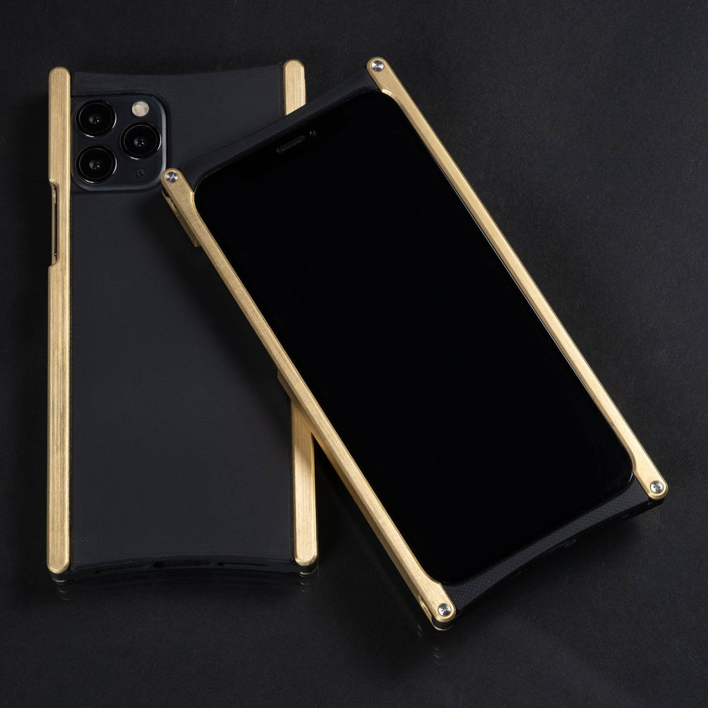 Europa case in Brass and Black G10 for iPhone 11 Pro