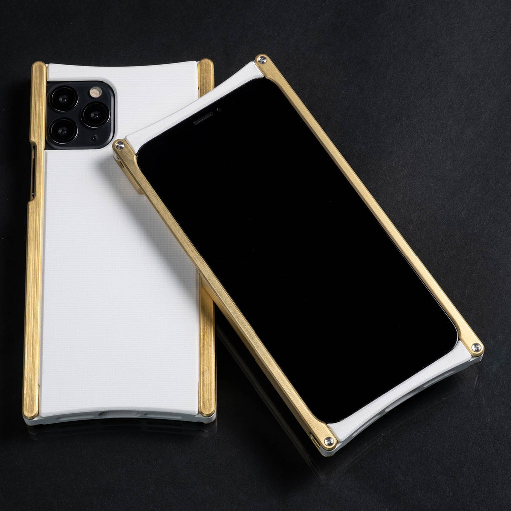 Europa case in Brass and White G10 for iPhone 11 Pro