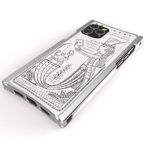 iPhone 12 Case, Duke Riley, Mermaid, Artist Edition Europa 12 Pro Silver Aluminum and White G10
