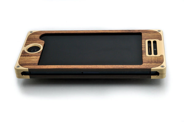 EXO18 Brass Teak for iPhone 5/5s & SE